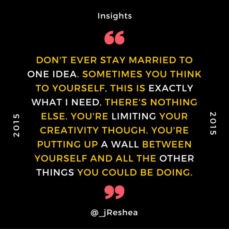 Insights- Limiting Creativity
