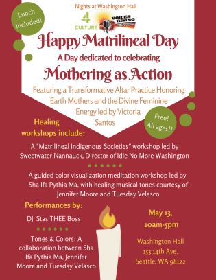 Flyer: Matrilineal Day Mothering As Action